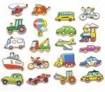 Viga - Wooden Magnets - Vehicles (N58924)   AD8H5Z
