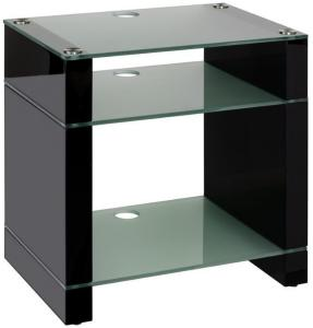 Blok Stax 600X Stereomøbel - Black Gloss / Etched Glass