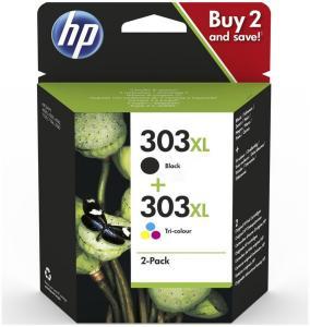 HP Blekkpatron Pakke No.303XL Sort/3-Farge (12ml/10ml) 3YN10AE (Kan sendes i brev)