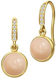 Julie Sandlau Luna Earring - Gold Øredobber Smykker Rosa Julie Sandlau Women