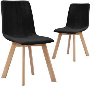 vidaXL Spisestoler 2 stk svart stoff