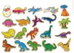 Viga - Wooden Magnets - Dinosaurs (N50289)   AG38XB