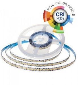 V-Tac 18W/m LED strip høy lumen RA 95 - 10m, 24V, IP20, 240 LED per meter, Samsung LED chip - Kulør : Kald