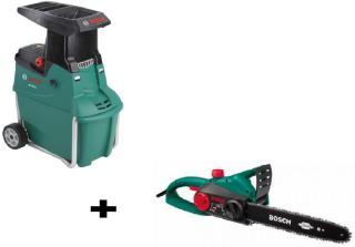 Kompostkvern Bosch AXT 25 TC + motorsag AKE 30 S