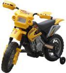 vidaXL Elektrisk gul motorsykkel til barn