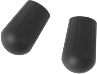 Helinox Chair Rubber Tips 17.5 2-pack, Black, OneSize