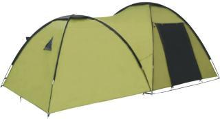 vidaXL Campingtelt igloformet 450x240x190 cm for 4 personer grønn