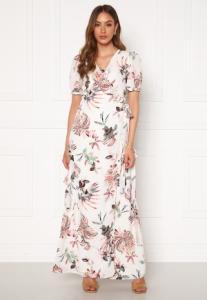 DRY LAKE Kimchi Long Dress 843 White Pink Flowe XS