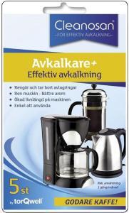 Avkalkningstabletter för bl.a kaffebryggare och strykjärn