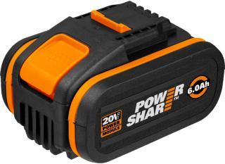Worx WA3641 20V 6.0Ah batteri med indikator
