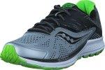 Saucony Ride 10 Grey / Black / Slime, Sko, Sneakers & Sportsko, Sneakers, Blå, Herre, 41
