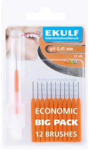 Ekulf mellomromsbørste ph 0,45 mm orange (12 stk)