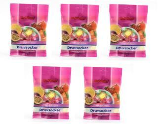 Fruit Power Druesukker Tabletter - Tropical Mix - 5 x 30 Tabl - 5 Pakk