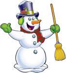 Beistle Bevegelig snømann - Jul