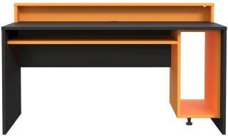 Bays Gaming Skrivebord 160 cm - Svart/Oransje