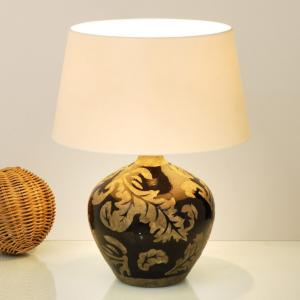 Bordlampe Toulouse rund, høyde 42 cm, svart