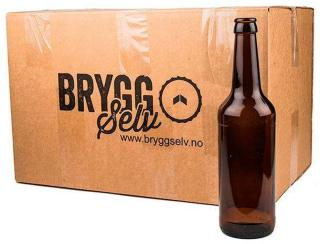 0.5l ølflasker. 24 stk i esken