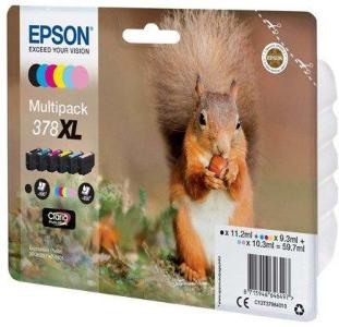 Epson 378XL Multipack - 6 pakker - XL - sort gul cyan magenta lys magenta lys cyan - original - blækpatron - Blekkpatron Svart C13T37984020