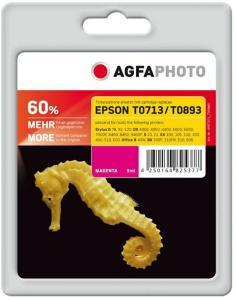 AGFAPHOTO 9 ml - magenta - blekkpatron (alternativ for: Epson T0893, Epson T0713, Epson C13T08934011, Epson C13T07134011) - for Epson Stylus DX9400, SX115, SX215, SX218, SX415, SX515, SX610; Stylus ..