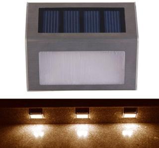 Solcellelampe for rekkverk / trapp