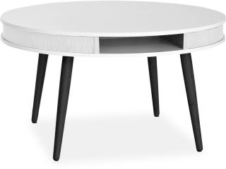 Even Sofabord 90 cm - Hvit/Svart