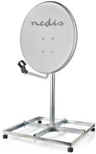 Satellittbalkongstativ | Maks. parabolstørrelse: 90 cm | 4 x 30 x 30 cm | Stål