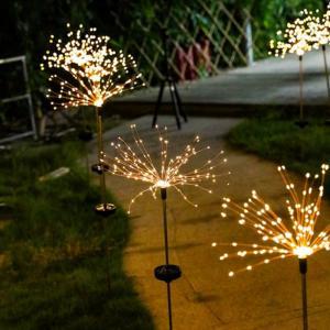 LED Blomster med Solcellelading