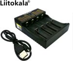 Lader for Li-ion og NIMH battericeller, USB input, powerbank