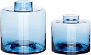 Hübsch Vase Blå 2 stk