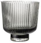 Bloomingville Lykt Grey Glass Ø9xH8,5 cm