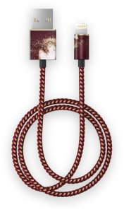 IDEAL OF SWEDEN Fashion Cable, 1m Golden Burgundy Marble Cable