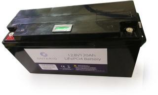 Ontario 12.8V 120Ah LifePO4 lithium batteri (med blåtann) for båt, hytte, campingvogn og bobil (forbruk) (ONT12V120AH)