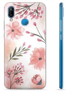 Huawei P20 Lite TPU-deksel - Rosa Blomster