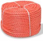 vidaXL Vridd tau polypropylen 6 mm 200 m oransje