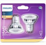 Philips LED-spotlyspærer 2 stk Classic 3,5 W 255 Lumens 929001217831
