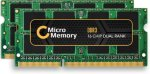 MICROMEMORY DDR3 - 8 GB: 2 x 4 GB - SO DIMM 204-pin - 1333 MHz / PC3-10600 - ikke-bufret - ikke-ECC - for Apple MacBook Pro (MMA1074/8GB)
