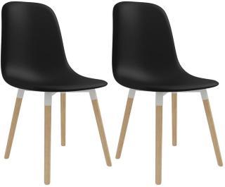 Spisestoler 2 stk plast svart -