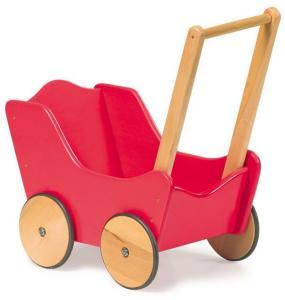 Klassisk rød dukkevogn