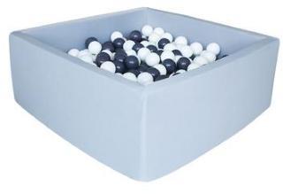 knorr® leker ballbad mykt - Grått firkantet inkludert 100 baller grått / hvitt