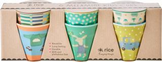 Rice Kopp Bunny Melamin 6-pack, Green