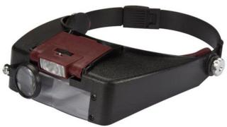 Forstørrelsesbriller med LED-belysning