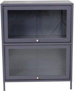 NORDFORM Lavt vitrineskap Bonnie Unisex Lys grå