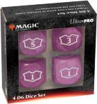 Magic Loyalty Dice 4 D6 Dice Set Lilla Deluxe 22mm Mana terningsett
