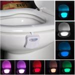 LED toalettlys med bevegelsesensor