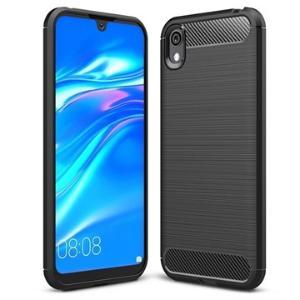 Brushed Huawei Y5 (2019), Honor 8S TPU-deksel - Carbon Fiber - Svart