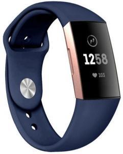 Fitbit Charge 3 armbånd silikon - mørk blå - S