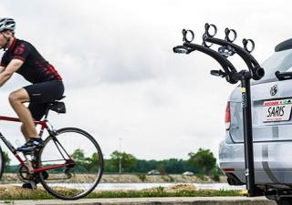 Saris Euro Axis 3-Bike Sykkelstativ Festes på hengerfeste! Aluminium