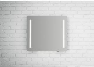 Linn Bad Fosse speil m/LED-lys 80x70 cm, med dimmer og stikkontakt