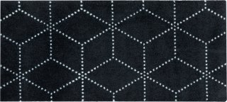 Hagl Black dørmatte 45x100 cm Heymat