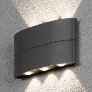 Utendørs LED-vegglampe Chieri med effektivt lys